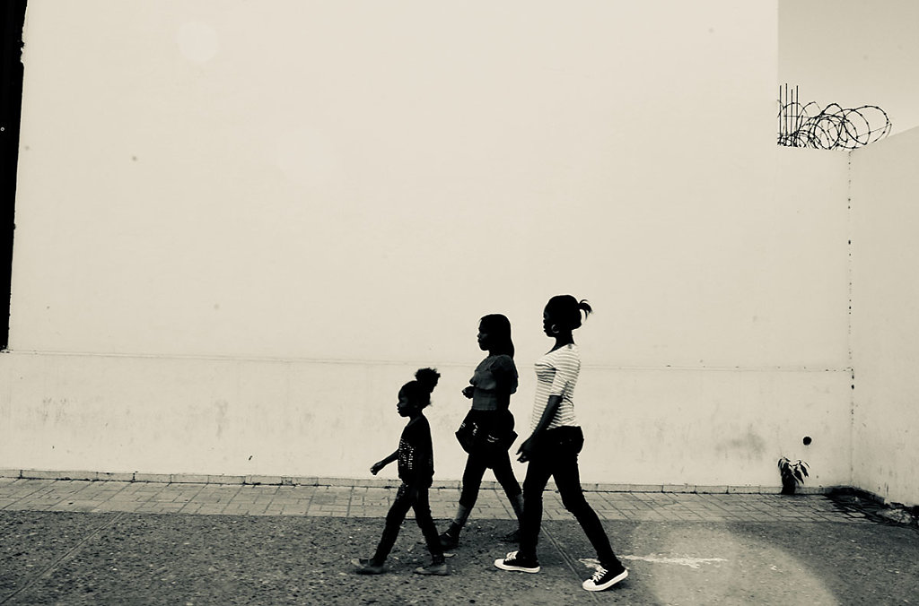 family walk, St. Kitts 2018